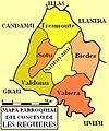 Mapa parroquial de Les Regueres color.jpg