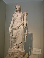 Marble statue of the goddess Isis-Tyche-Pelagia. 1st - 2nd c. AD (3209867707).jpg