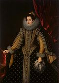 Margarita Aldobrandini, Duchess of Parma by Bartolome Gonzalez, held in the Hermitage collection.jpg
