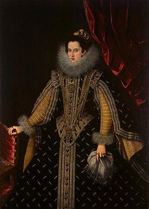 Margherita Aldobrandini - Margarita Aldobrandini, Duchess of Parma, painting by Bartolome Gonzalez