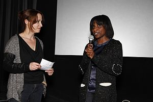Marguerite Abouet - Marguerite Abouet (right) at the Tricky Women Festival 2014