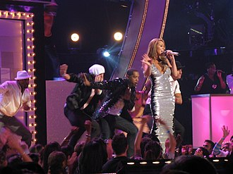 "E=MC² (Mariah Carey album) - Carey opening the 2008 Fashion Rocks ceremony with a live performance of ""I'm That Chick""."