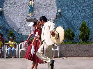 Marinera national dance of Perú