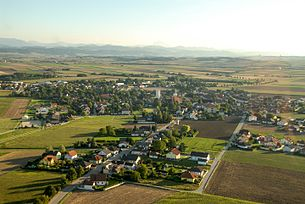 Aerial view of Markersdorf