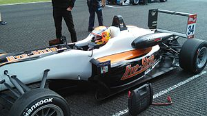 Markus Pommer - Markus Pommer on the F3 grid at Spa-Francorchamps 2015.