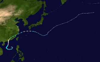 Typhoon Mary (1960) - Image: Mary 1960 track