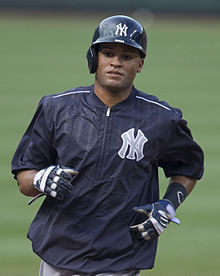 bb3d33e9cf115 Mason Williams (18137182634).jpg. Williams with the New York Yankees
