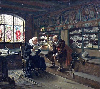 Notary - A notary at work (painting by German artist Max Volkhart).
