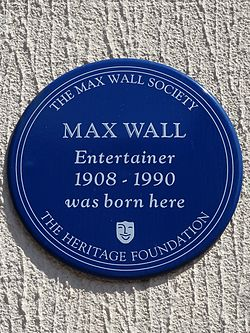 Max wall entertainer 1908 1990 was born here