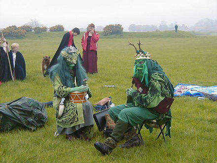 The May King and Queen, Thornborough Central Henge, Beltaine 2005 MayKingandQueen.jpg