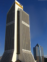 Menara Maybank, Maybank's main headquarters.