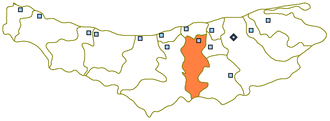 Babol - Map showing the location of Babol county as well as Babol city in Mazandaran.