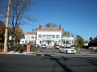 New Hyde Park, New York - The Joseph Denton Mansion, which is used as a McDonald's restaurant.
