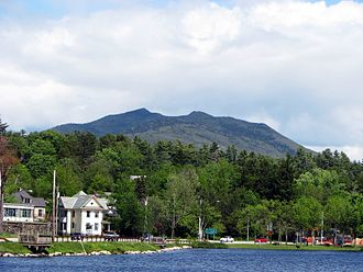 McKenzie Mountain - McKenzie Mountain from Lake Flower, Saranac Lake, NY
