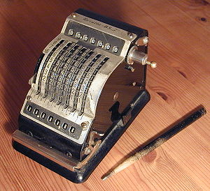 An adding machine.