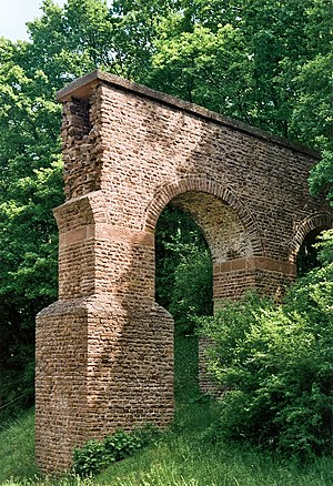 Mechernich - Reconstructed Roman Eifel aqueduct near Mechernich-Vussem