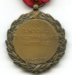 King Albert Medal - Image: Medaille du Roi Albert Berlgique 14 18 Revers
