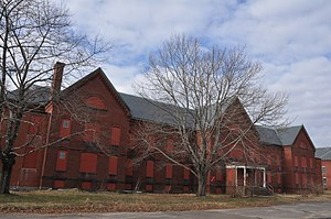 Medfield, Massachusetts - One of many abandoned buildings on the grounds of the former Medfield State Hospital