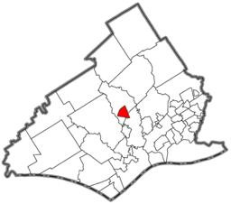 Location of Media in Delaware County