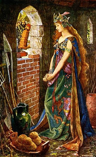Henry Justice Ford - The Princess Imprisoned in the Summerhouse from Andrew Lang's The Green Fairy Book