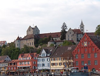 Meersburg Castle - Burg Meersburg and the town of Meersburg, from Lake Constance