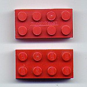 Kirkbi AG v Ritvik Holdings Inc - Mega Bloks building block (above) and Lego building brick (below)