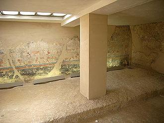 Meir, Egypt - Inside of the tomb of Senbi (B1)