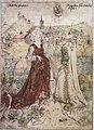 Meister E S Sibylle und Kaiser Augustus c1450 (Isny).jpg