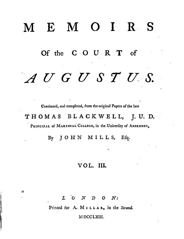 Memoirs of the Court of Augustus, Vol. 3, 1763