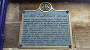 Memorial to John A MacDonald, St David's Church, Ingram Street, Glasgow