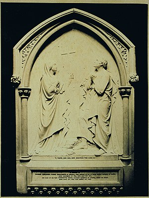 Thomas-Chaloner Bisse-Challoner - Memorial in Virginia Water's church to Challoner and his second wife, c1860s/70s.