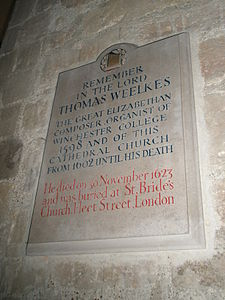 Memorial to Thomas Weelkes.JPG