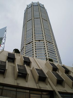 Komtar - KOMTAR Tower, with its podium block partly visible at the bottom.