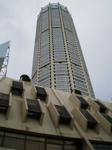 The Komtar Tower, Penang's tallest skyscraper, was built in the 1970s. Menara Komtar Penang.JPG