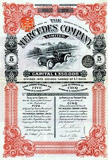 former brand of the Daimler-Motoren-Gesellschaft