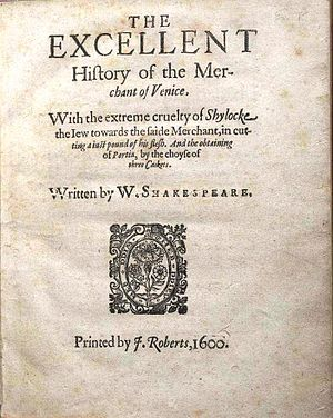 a focus on shylock in william shakespeares the merchant of venice The shylock of shakespeare's merchant of venice, famous in stage history, is  only  the focus though, is on the way the english of shakespeare's day  regarded  william shakespeare) and a perfect performance from guy  masterson as the.