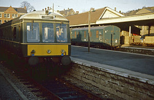 Merthyr Tydfil railway station - Merthyr Tydfil station in January 1968 before its first relocation