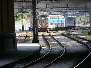 Van Buren Street station - Image: Metra approaches Van Buren Station