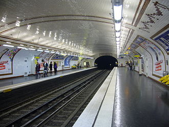 Notre-Dame-des-Champs (Paris Métro) - Image: Metro Paris Ligne 12 Station Notre Dame des Champs Quais