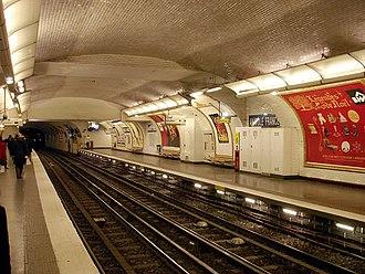 Anatole France (Paris Métro) - Image: Metro de Paris Ligne 3 Anatole France 05