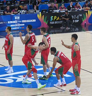 Mexico national basketball team - Members of the 2014 Team Mexico, which reached the World Cup's playoffs for the first time.