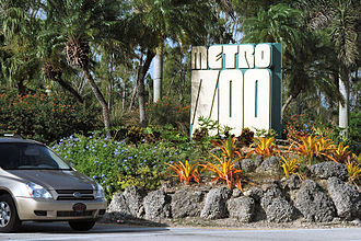 Zoo Miami - Entrance sign with the old Zoo name