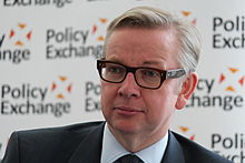 Michael Gove at Policy Exchange delivering his keynote speech 'The Importance of Teaching' (9679846486).jpg