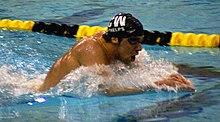 Michael Phelps nel 2008.