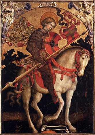 Michele Giambono - Michele Giambono, St. Chrysogonus on Horseback, c. 1450, Panel 199 x 134 cm, San Trovaso, Venice