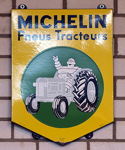 Michelin enamel advert sign at the den hartog ford museum pic-053