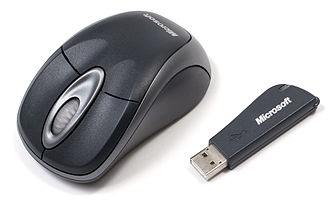 Optical mouse - A Microsoft wireless optical mouse