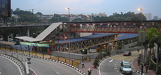 Mid Valley Komuter station - The exterior of the Mid Valley Komuter station. The station's primary role is to serve the Mid Valley Megamall and surrounding commercial facilities.