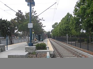 Middlefield station - Image: Middlefield VTA station 1061