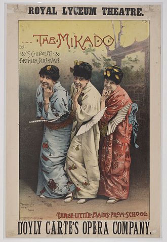The Mikado - Theatre poster, Edinburgh, 1885